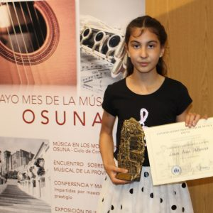 1º PREMIO JOVENES PROMESAS IV CONCURSO DE INTERPRETACION MUSICAL VILLA DUCAL DE OSUNA 2018